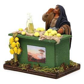 Lemon seller with stall, Neapolitan nativity figurine, 10cm s2