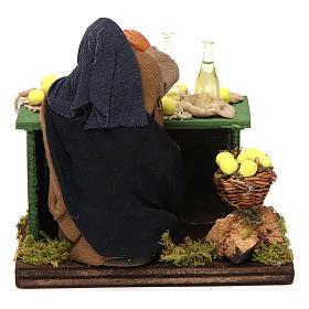 Lemon seller with stall, Neapolitan nativity figurine, 10cm s4