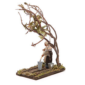 Agricultor con árbol 10 cm belén Napolitano s2
