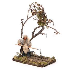 Agricultor con árbol 10 cm belén Napolitano s4