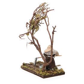 Agricoltore con albero 10 cm presepe napoletano s3