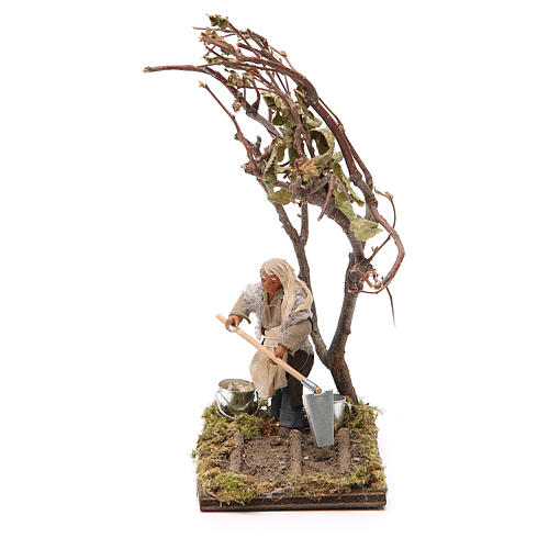 Agricoltore con albero 10 cm presepe napoletano 1