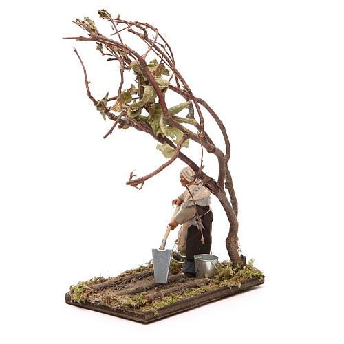 Agricoltore con albero 10 cm presepe napoletano 2