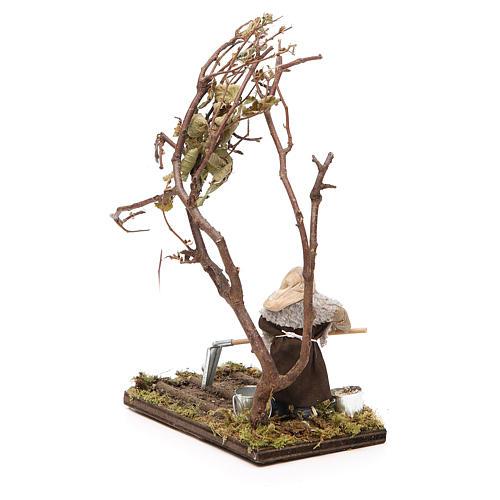 Agricoltore con albero 10 cm presepe napoletano 3