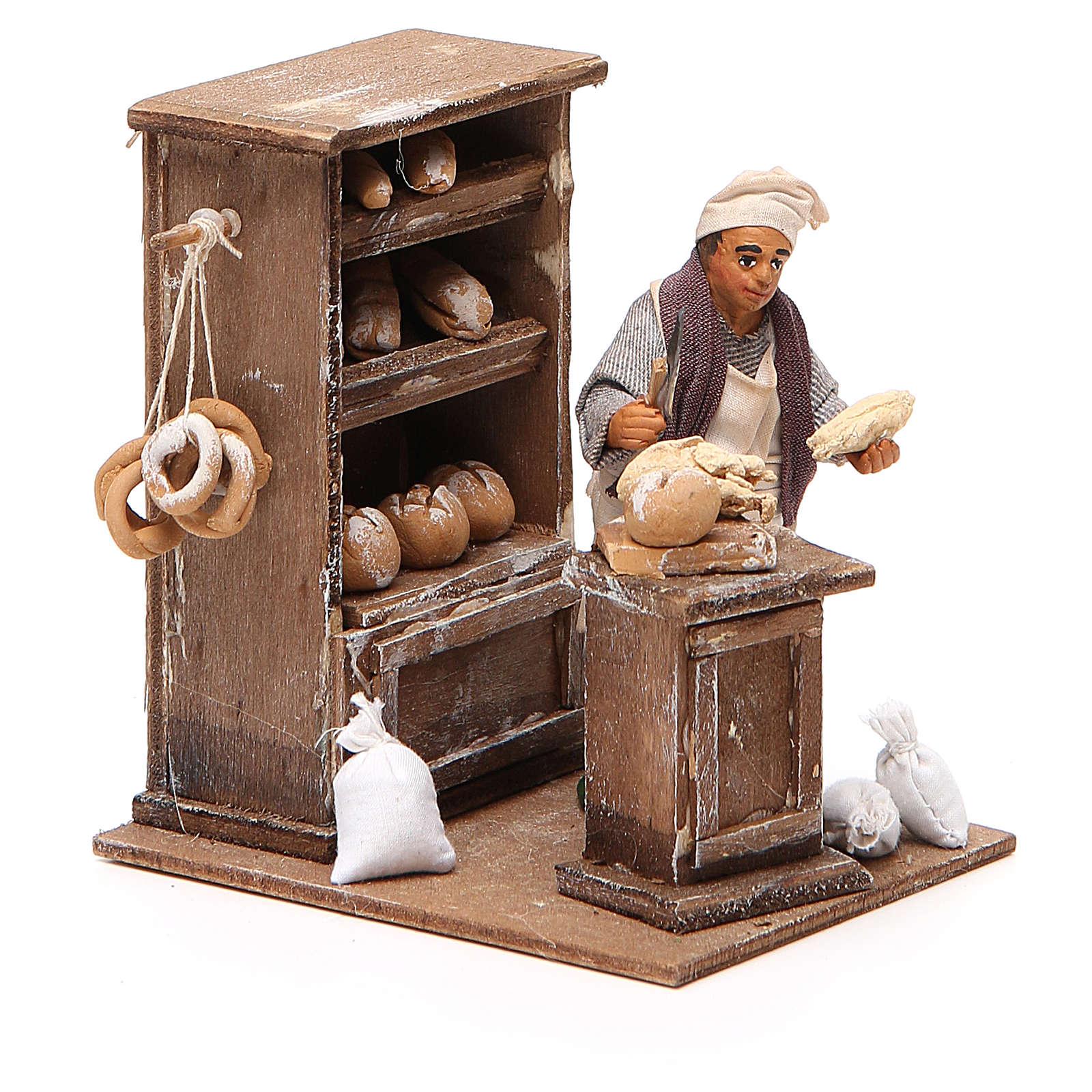 Boulanger avec crédence 10 cm crèche napolitaine 4