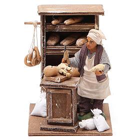 Boulanger avec crédence 10 cm crèche napolitaine s1