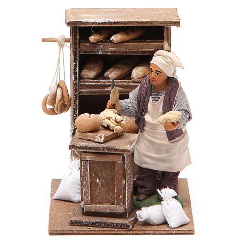 Boulanger avec crédence 10 cm crèche napolitaine 1
