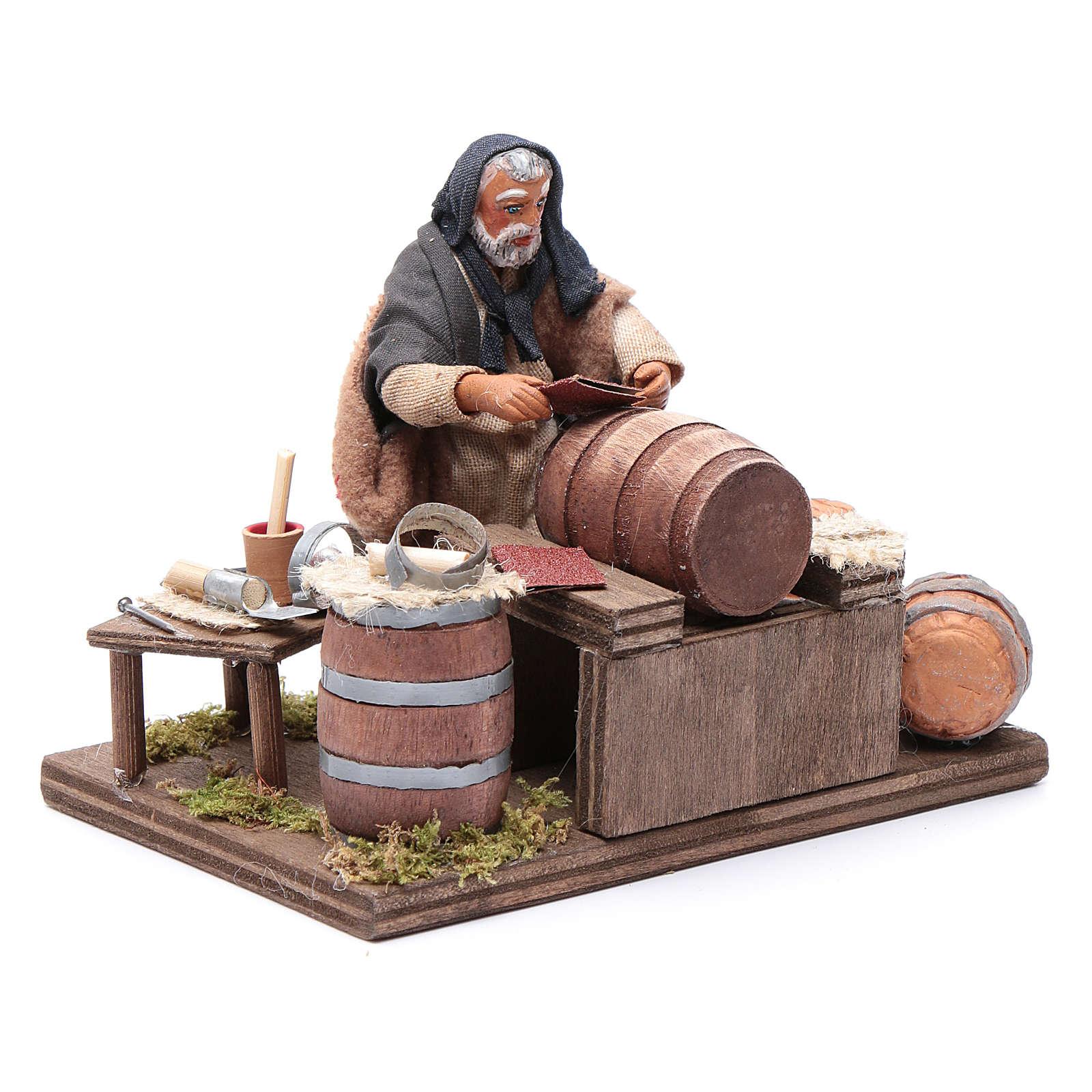 Tonnelier avec huiles 10 cm crèche napolitaine 4