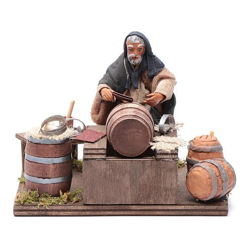 Tonnelier avec huiles 10 cm crèche napolitaine 1