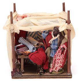 Merchant with tent for Neapolitan nativity, 10cm s1
