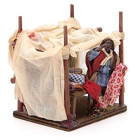 Merchant with tent for Neapolitan nativity, 10cm s4