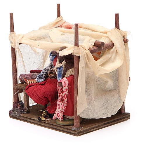 Merchant with tent for Neapolitan nativity, 10cm 2