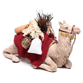 Camello enjaezado sentado 14 cm belén napolitano s4
