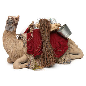 Harnessed sitting camel for Neapolitan nativity 14cm s3