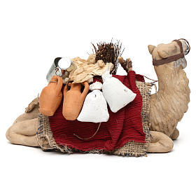 Harnessed sitting camel for Neapolitan nativity 14cm s4