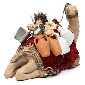 Harnessed sitting camel for Neapolitan nativity 14cm s5
