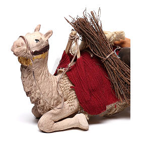 Harnessed sitting camel for Neapolitan nativity 14cm s2