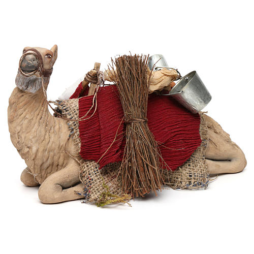 Harnessed sitting camel for Neapolitan nativity 14cm 3