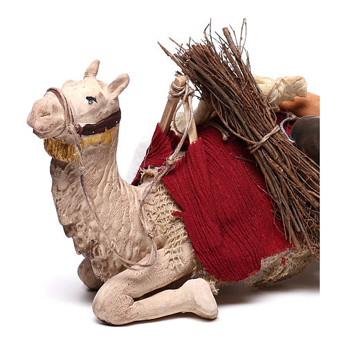 Harnessed sitting camel for Neapolitan nativity 14cm 2
