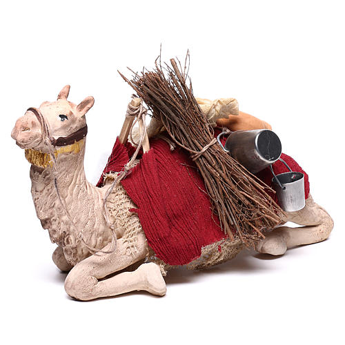 Harnessed sitting camel for Neapolitan nativity 14cm 3
