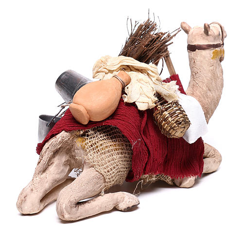 Harnessed sitting camel for Neapolitan nativity 14cm 5