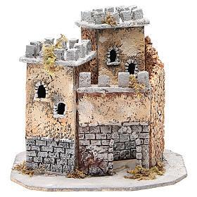 Château crèche napolitaine en liège 20x22x20 cm s1