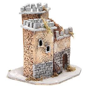 Castello presepe napoletano in sughero 20x22x20 cm s3