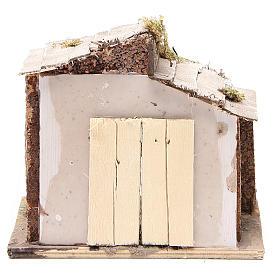 Capanna presepe Napoli legno e sughero 17x20x16 s4