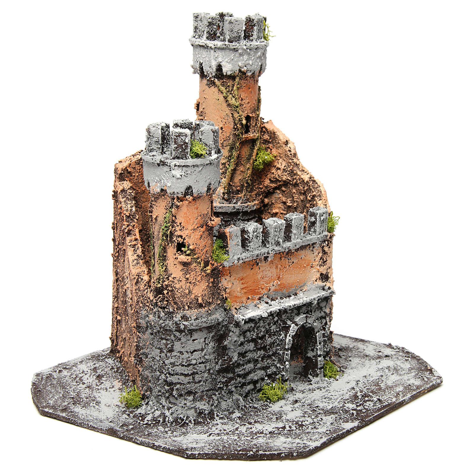 Castillo corcho 28x26x26 cm belén napolitano 4