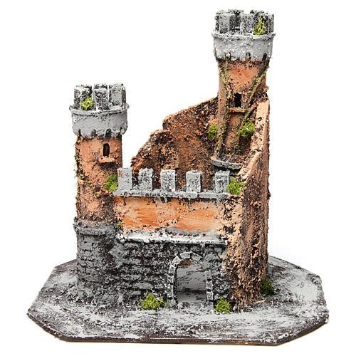 Castillo corcho 28x26x26 cm belén napolitano 1