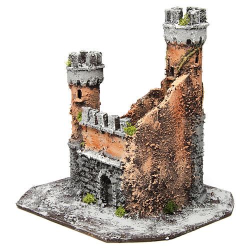 Castillo corcho 28x26x26 cm belén napolitano 2