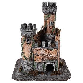 Castello presepe Napoli in sughero 30x26x26 s1