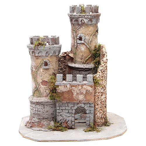 Castello presepe Napoli in sughero 30x26x26 1
