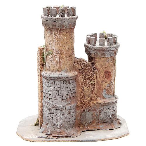 Castello presepe Napoli in sughero 30x26x26 4