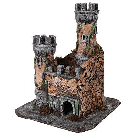 Castle for Neapolitan nativity scene in cork 30x26x26cm s2