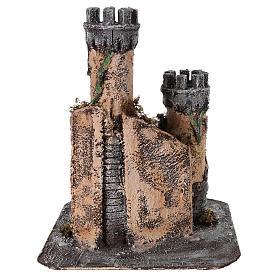 Castle for Neapolitan nativity scene in cork 30x26x26cm s4