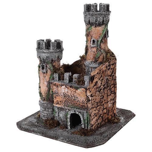 Castle for Neapolitan nativity scene in cork 30x26x26cm 2