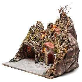 Borgo con grotta fontana forno presepe Napoli 30x50x40 cm s2
