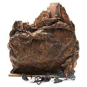 Pueblo con cueva y fuente para belén de Nápoles 38x45x35 cm s4