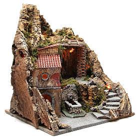 Bourgade avec grotte et fontaine crèche Naples 38x45x35 cm s3