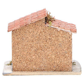 House in cork and resin for Neapolitan nativity 15x15x11cm s4