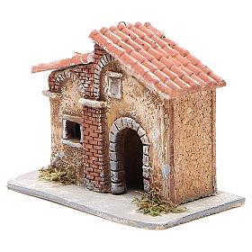 Casita corcho y resina belén Nápoles 15x15x11 cm s2