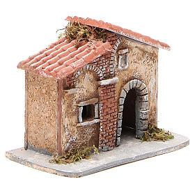 Casita corcho y resina belén Nápoles 15x15x11 cm s3