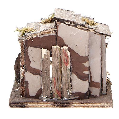 Cabane bois crèche napolitaine 13x12x11 cm 4