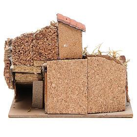 Escenografía anexo casas corcho belén napolitano 20x23x20 cm s4