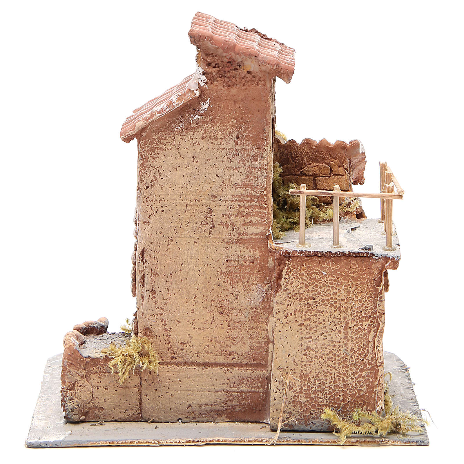 House in wood and resin for Neapolitan nativity scene, 25x22x20cm 4