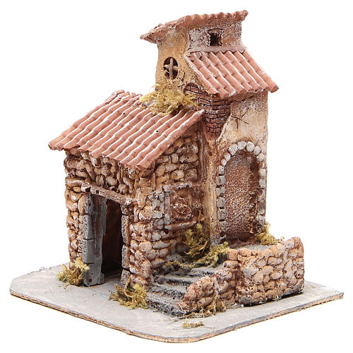 House in wood and resin for Neapolitan nativity scene, 25x22x20cm 2