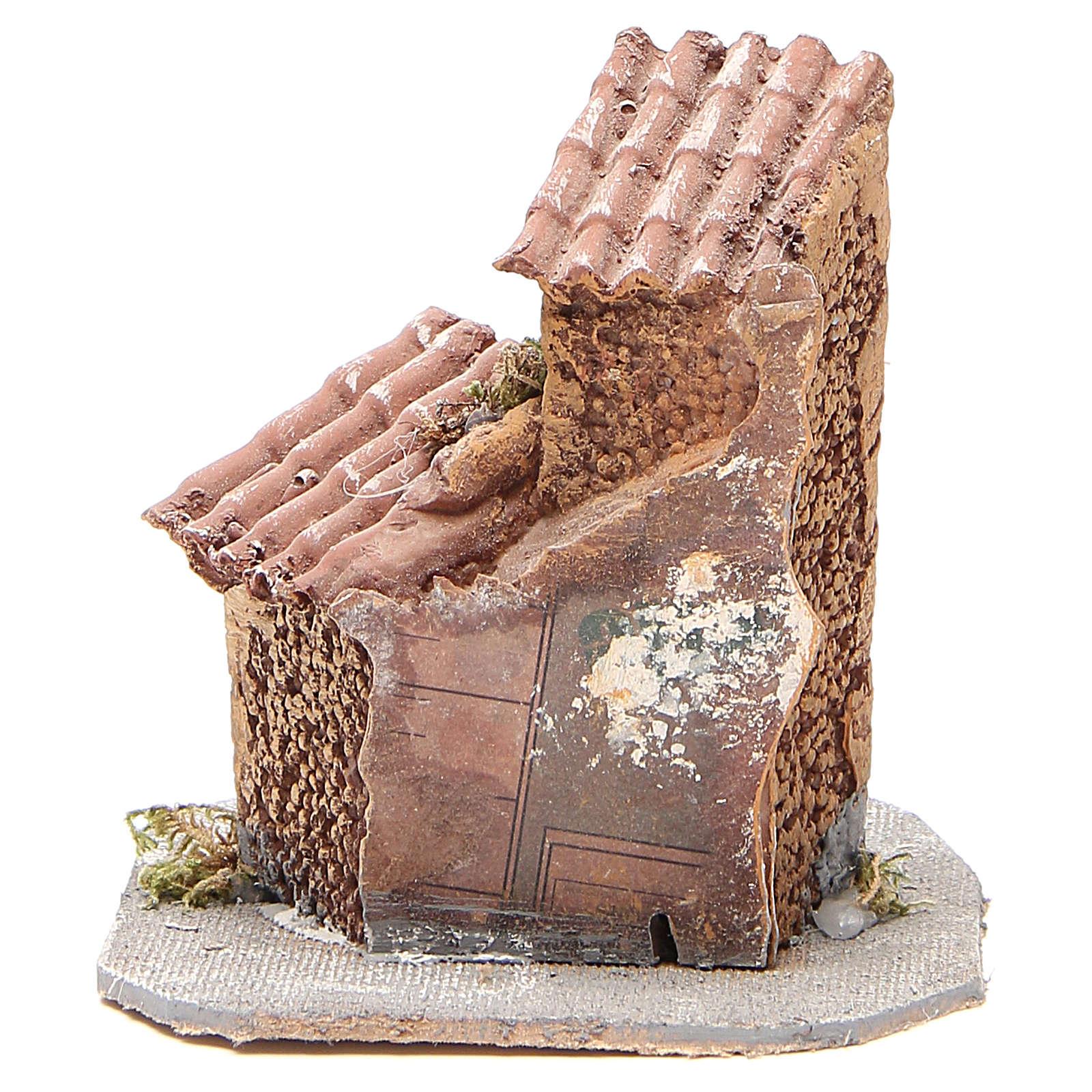 Häuschen Harz und Holz 15x12x15cm neapolitanische Krippe 4