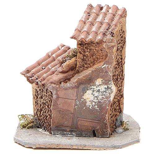 Casinha resina madeira para presépio 15x12x15 cm 4