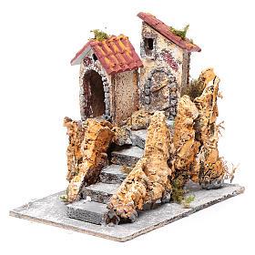 Häuser mit Treppe 16x15x18cm neapolitanische Krippe s2